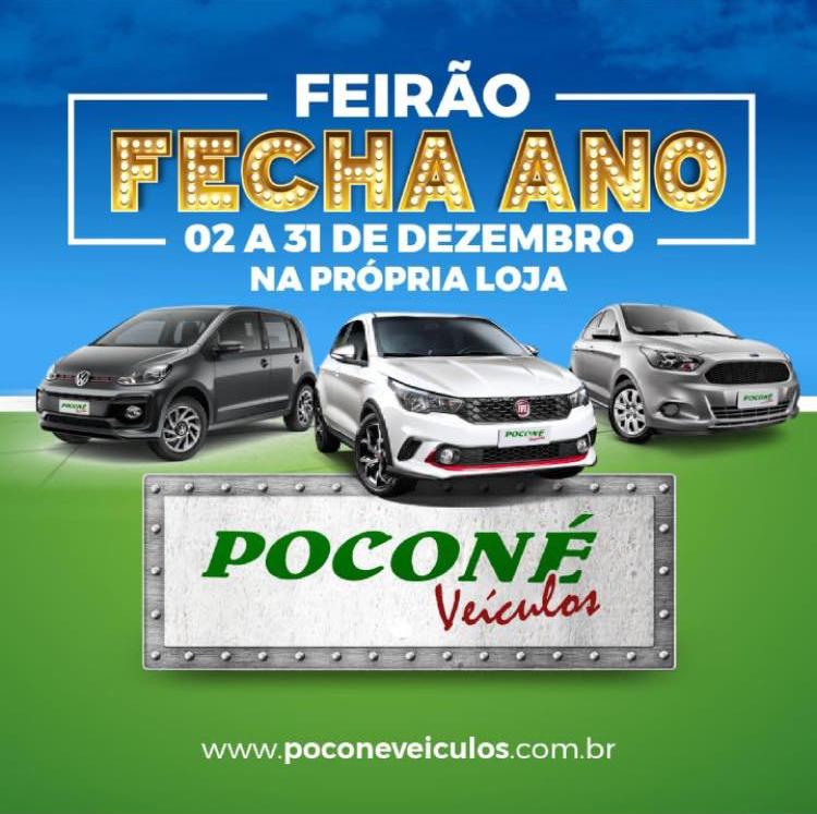 Feirão fecha ano Poconé Veiculos
